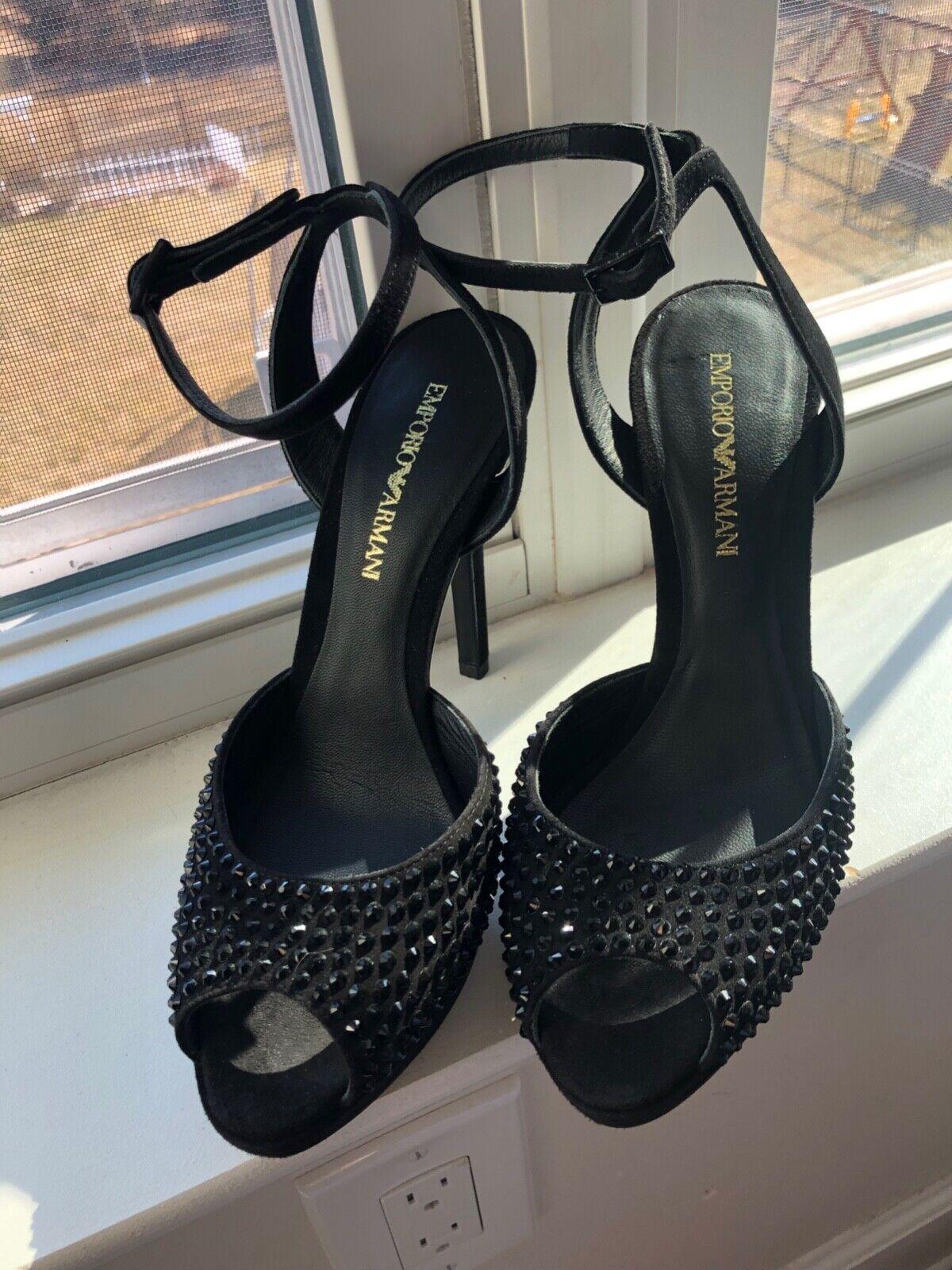 fabbrica diretta Emporio Emporio Emporio Armani nero scarpe Dimensione 7 BRAND NEW UNWORN WITH BOX    i nuovi stili più caldi