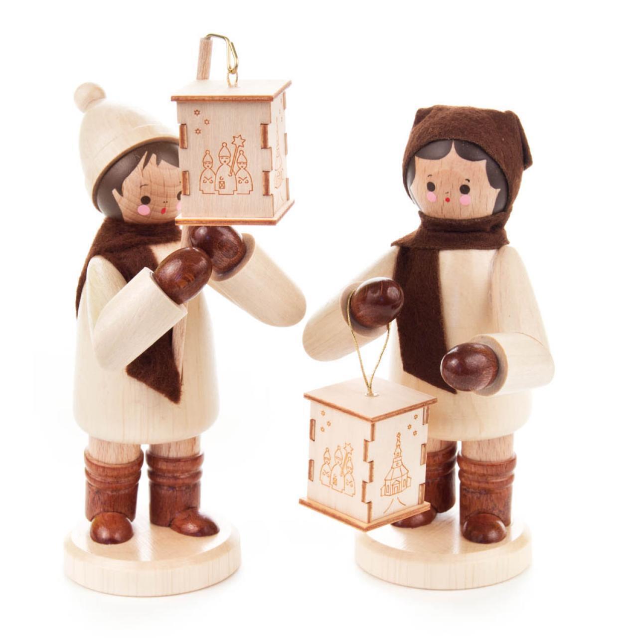 LATERNENKINDER groß natur Erzgebirge NEU NEU NEU Miniatur Seiffen Weihnachten Laterne | Heißer Verkauf  fcf094