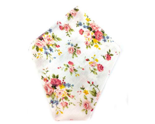 Mens Pocket Square Cotton Wedding Groomsmen Handkerchief CHOOSE COLOR