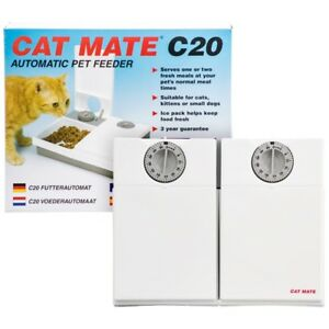 Automatic-Pet-Feeder-C20-Feed-2-Cats-Kitty-or-Small-Dogs-While-Away-Cat-Mate