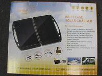Foldable 13 Watt Solar Charger Briefcase Portable Solar Panel 12v Off Grid