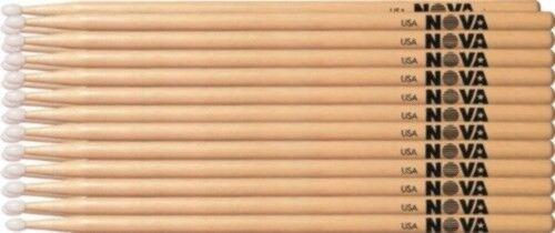 1 Brick von 12 Pairs Vic Firth NOVA 2B Drumsticks - NYLON TIP Wahl der 3 Farben
