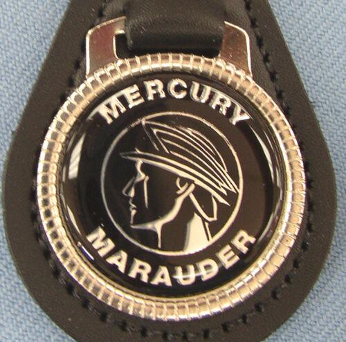 Rare S-55 Vintage Black Mercury MARAUDER Leather Keyring Key Fob 1963 1964 1965