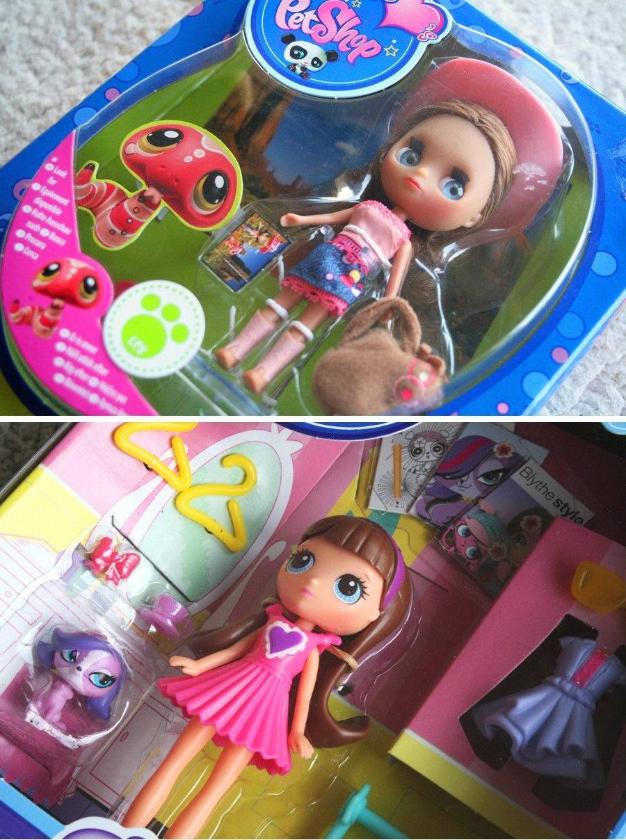 LITTLE BLYTHE DOLLS (from LITTLEST PET SHOP)  Design Dreams & Desert Fun. BNIB