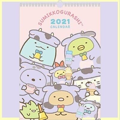 Sumikko Gurashi Wall CALENDAR 2021 San-X B4 Anime Cute CD34801 Character Japan