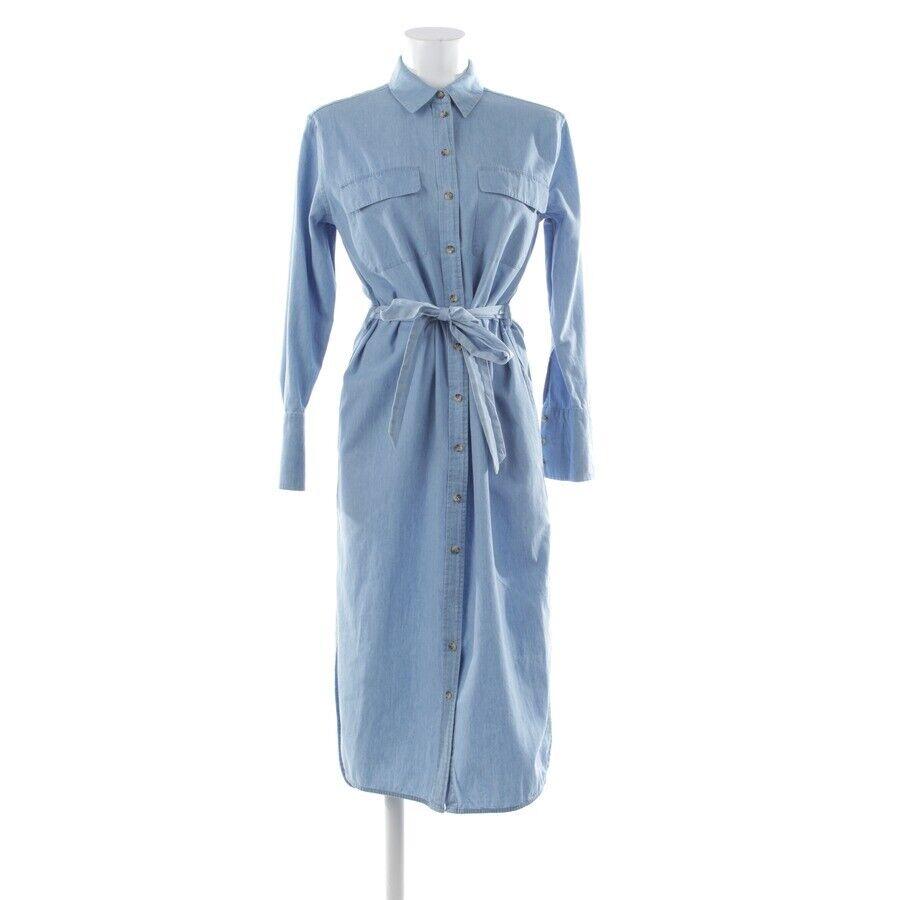 EQUIPMENT Jeanskleid Gr. S / P Blau Damen Kleid Dress Robe Longsleeve Denim