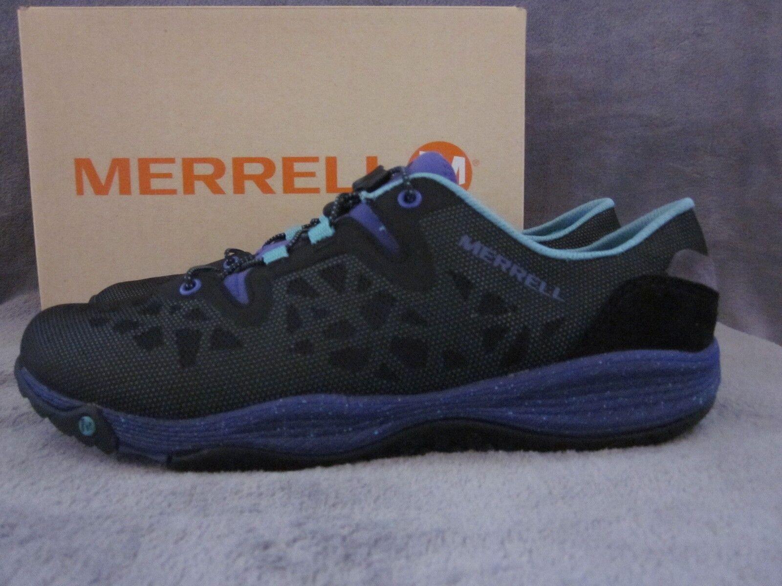 Merrell J68848 Bandes Shine en Résille Résille Résille Noire Tout Terrain Trail Chaussures US 9 M 40 euros Neuf avec boîte 119751