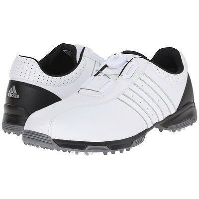 Adidas Men's 360 Traxion Boa Golf Shoes, 10.5 Medium White