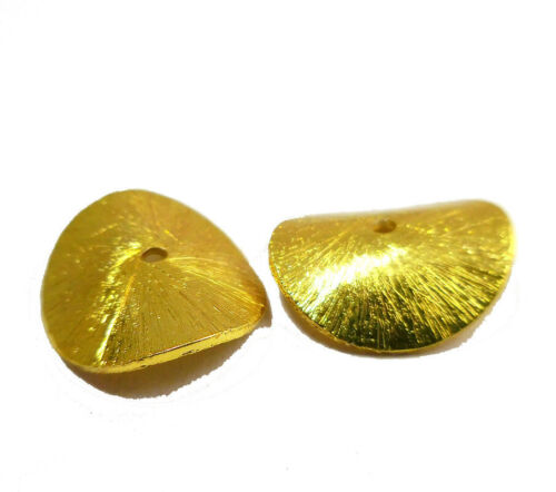 500 PCS 6MM POTATO CHIPS BRUSHED WAVY DISC 18K GOLD PLATED  G-138