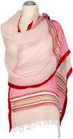 Schal Leinen, Foulard Rosa Rot   Sommer scarf linen light pink  Red summer