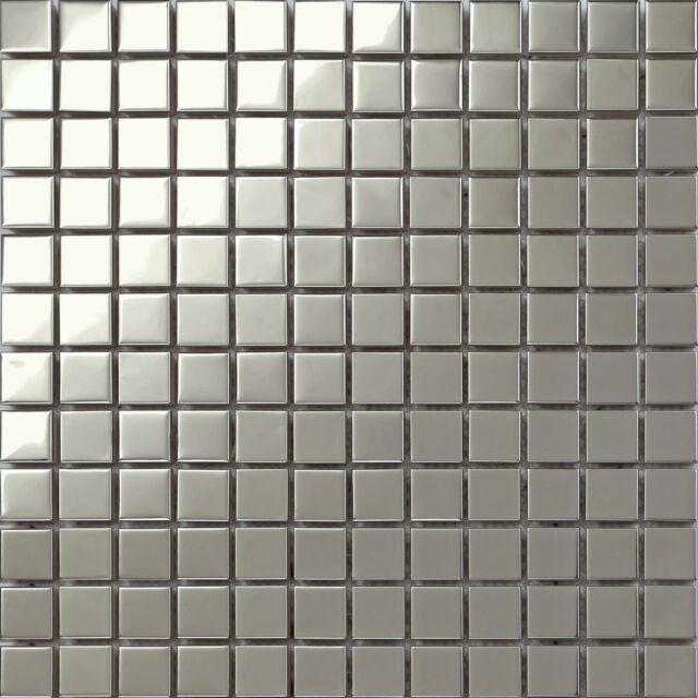 30x30cm Edelstahl Mosaik Fliesen matte mit glatt