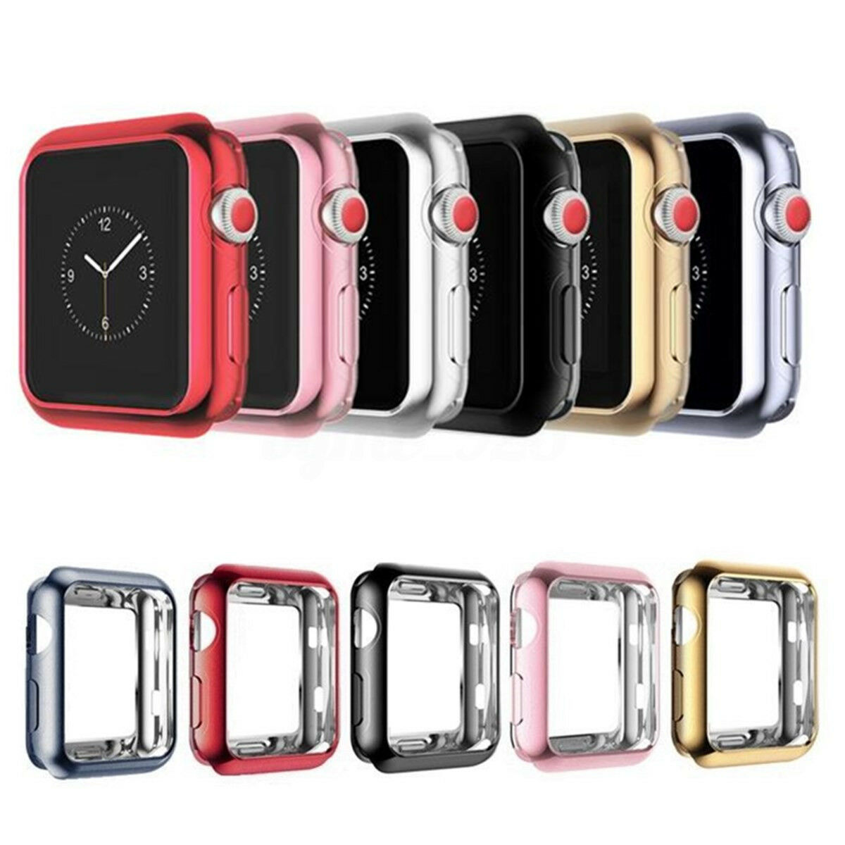 Soft Tpu Electroplate Bumper Protective Case Cover For Apple Watch 3 Spigen Rugged Armor 38mm Softcase Original 1 Of 8free Shipping 2 38
