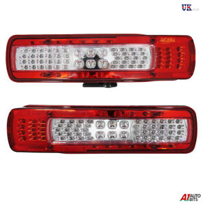2-Pcs-Led-Rear-Lights-Tail-Lamps-Volvo-Fh-Fm-2012-gt-Euro-6-Rev-Alarm-Nr-Plate