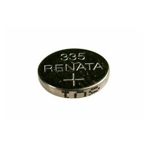 #335 (SR512SW) Renata Mercury Free Watch Batteries - Strip of 10