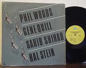 PHIL-WOODS-SAHIB-SHIHAB-GENE-QUILL-034-Four-Altos-034-RARE-EXC-PRESTIGE-LP-Mal-Waldron