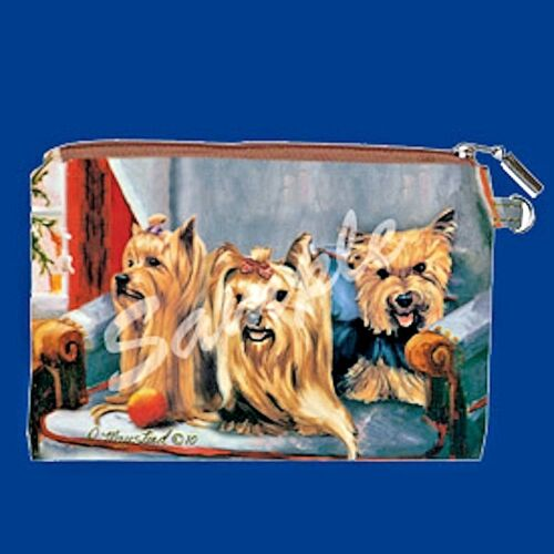 YORKSHIRE TERRIER Zippered Pouch by Maystead NEW full color both sides