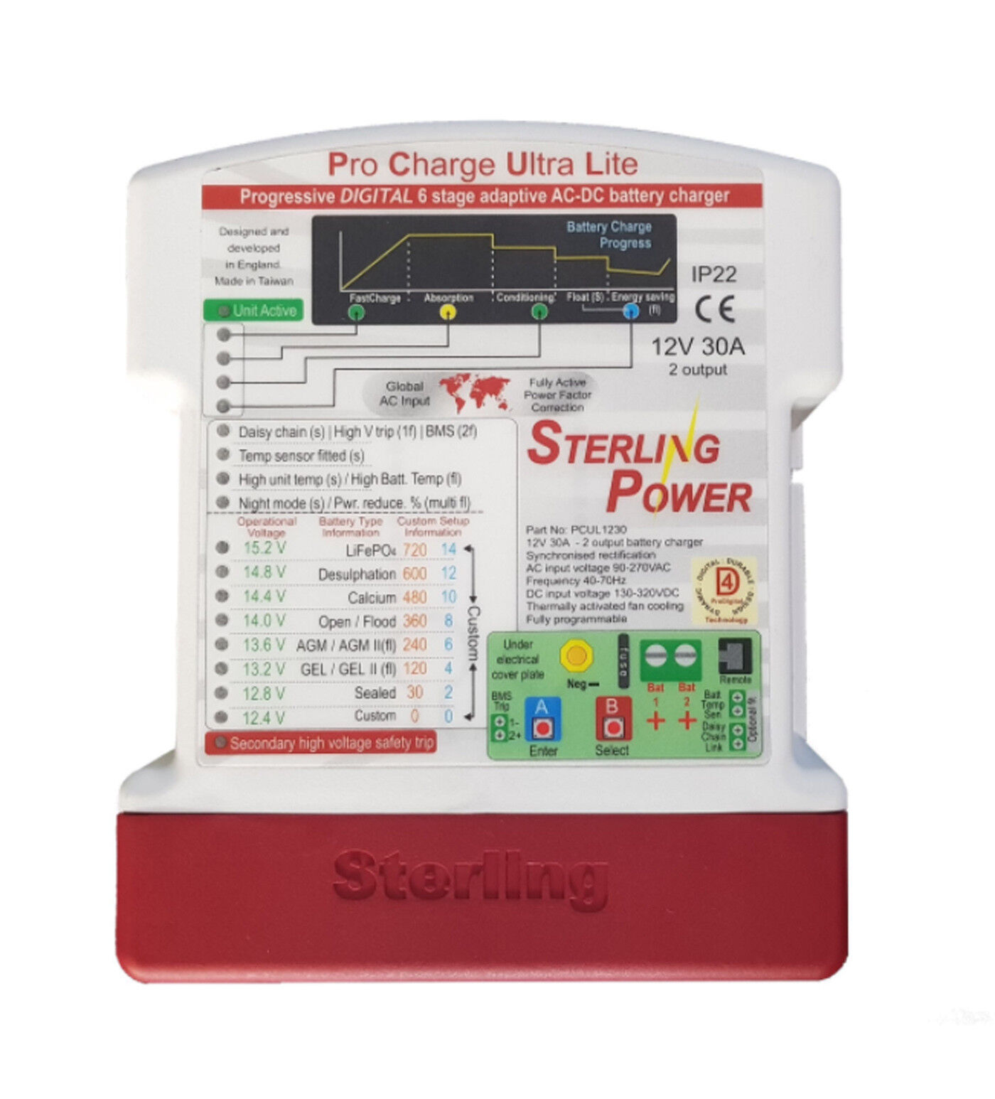 Sterling Cochegador Procharge Ultra Lite 12v  30amp LPCU1230  promociones
