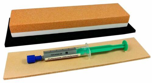 pâte Couteau-compactem-set 3 pièces pierre à aiguiser médicament corindon cuir