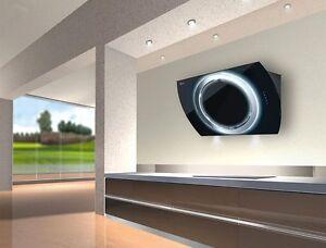 baumann nima 90 schwarz dunstabzugshaube kopffreie wandhaube 90 cm breit ebay. Black Bedroom Furniture Sets. Home Design Ideas