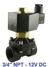 3/4 Inch Normally Open Plastic Zero Pressure Solenoid Air Water Valve 12V DC