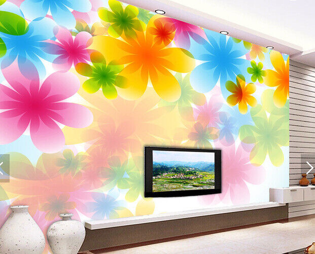 3D Farbe Flowers 646 Wall Paper Wall Print Decal Deco Indoor Wall Mural CA