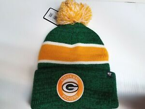 Green Bay Packers 47 Brand Knit Hat Noreaster Cuff Beanie Pom ... ea6fea0ae