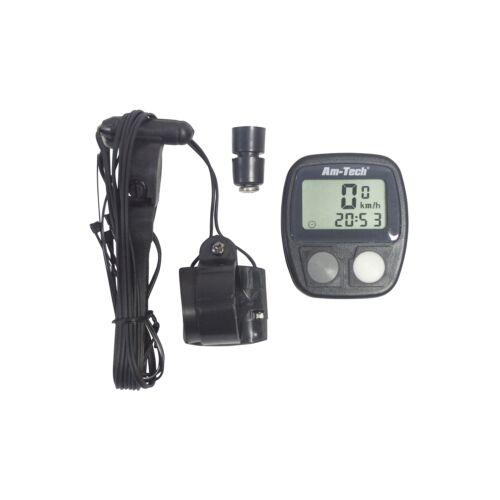 AmTech 14 Function LCD Digital Bicycle Computer Speedometer Odometer Clock