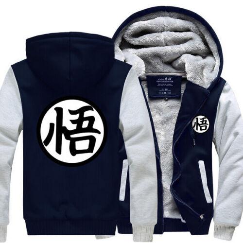 Winter Anime Hot Men Coat Dragon Ball Z Son Goku Thicken Jacket Fleece Sweater