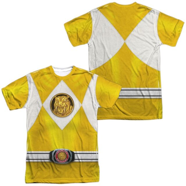 Power Rangers BLUE RANGER EMBLEM 2-Sided Sublimated All Over Print Poly T-Shirt