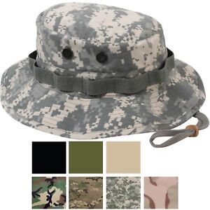 Image is loading Ripstop-Boonie-Hat-Lightweight-Camo-Wide-Brim-Military- 5979e615c2d
