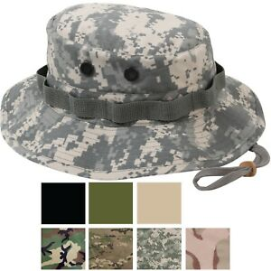 b9abd48cfc Image is loading Ripstop-Boonie-Hat-Lightweight-Camo-Wide-Brim-Military-
