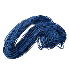 45 meters Waxed Cotton Cord Lacing - Blue T1