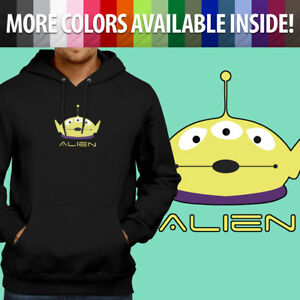 Mens-Pullover-Sweatshirt-Hoodie-Sweater-Disney-Toy-Story-Alien-Little-Green-S-3X