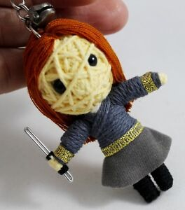 HERMIONI in HARRY POTTER Handcraft Voodoo Doll Keychain Keyring Toy String Movie