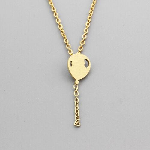 Kette Edelstahl Luftballon Versilbert Vergoldet Damen Halskette Silber Gold Edel