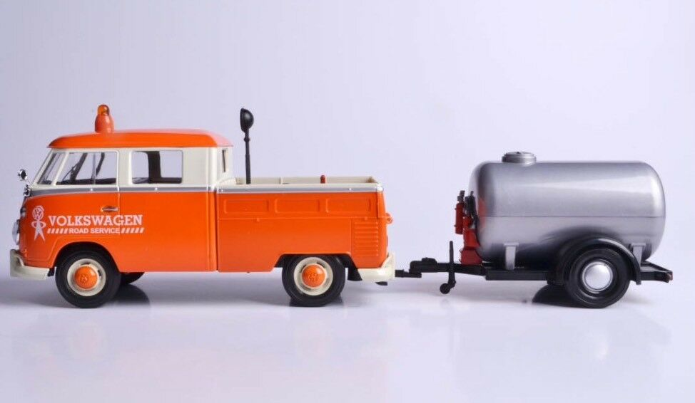 Escala 1 1 1 24 VW T1 tipo 2 Road Reparación Van Trailer Diecast Modelo 1962 Motormax LGB cb93d3