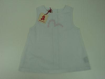 Authentic Evisu Kizzu Babies Dress White Sizes 3m to 23m Brand New With Tags