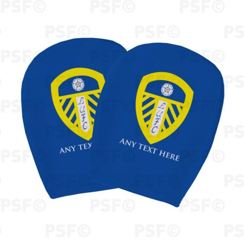 Leeds United FC Official Personalised LUFC Crest Blue Car Head Rest Cover LHR002
