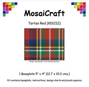 MosaiCraft-Pixel-Craft-Mosaic-Art-Kit-039-Tartan-Red-039-Pixelhobby