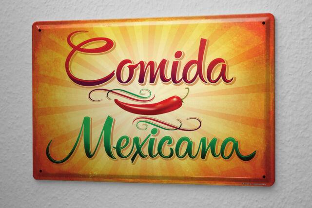 Tin Sign Nostalgic Fun Mexican food