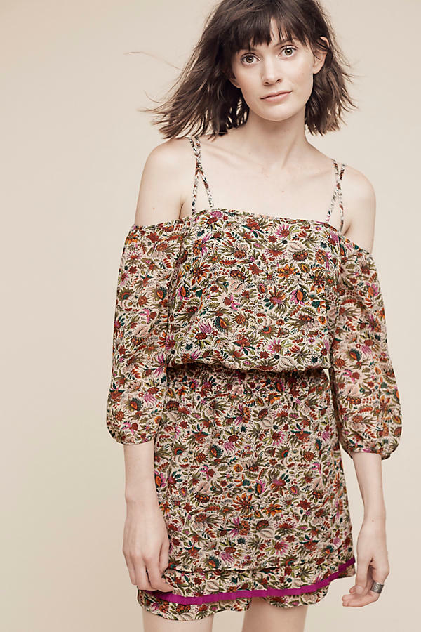 NWT ANTHROPOLOGIE EVERETT OFF-THE-SHOULDER DRESS by FLOREAT 8