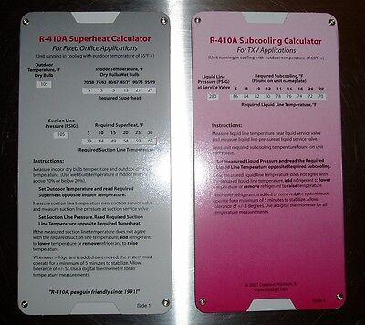 R410A Superheat Subcooling Calculator Charging Chart For TXV TEV 736902509906 EBay