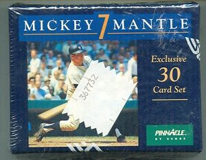 1992-Pinnacle-Exclusive-Mickey-Mantle-30-Card-Set-NEVER-OPENED