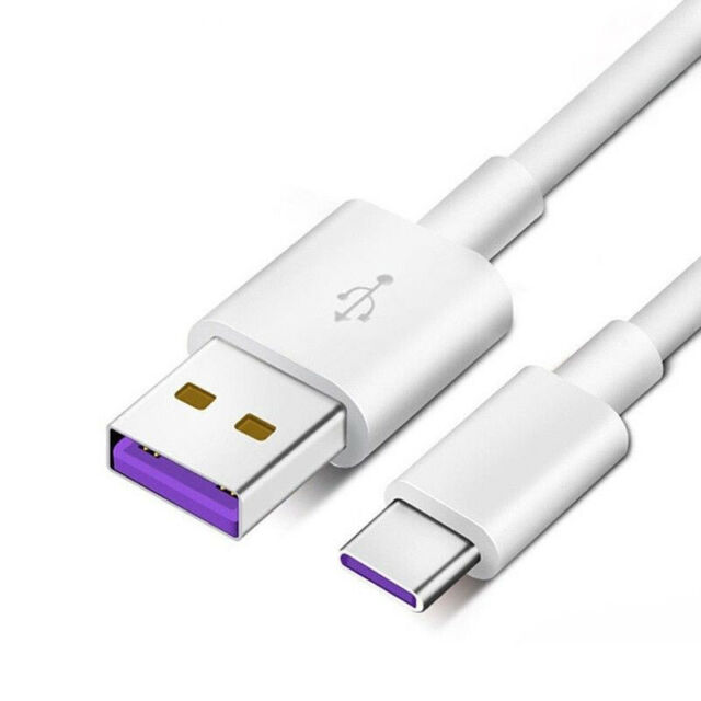 For Huawei Mate 10 9 White USB 3.1 Type-C 5A Supercharge Data Charger Cable