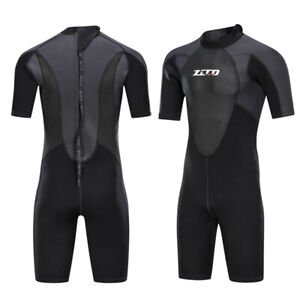 Men-Spring-diving-Wetsuit-3MM-neoprene-CR-shorty-swimming-wetsuit-plus-Sizes-4XL