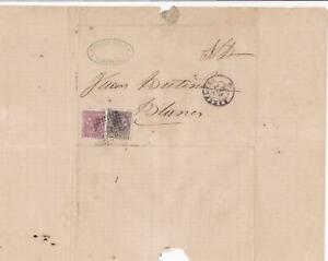 Spain 19th centuary stamps cover Ref 8420
