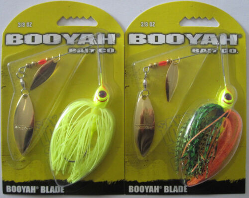2 - Two Popular Colors 3//8 oz BOOYAH  Double Willow Blade Spinners