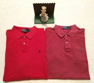 a3d38662c Lot of 2 Polo Ralph Lauren Rugby Shirts Minimal Wear XL Reds.