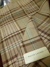 RALPH LAUREN New KERCHIEF PLAID CAMEL cotton 5 pieces large samples woven fabric