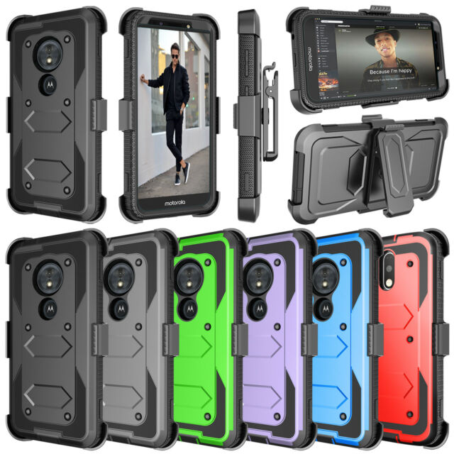 huge discount db1b1 63714 For Motorola Moto G6 Play/Z3 Verizon/E5 Go/E5 Play Clip Kickstand Holster  Case